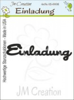 JM Creation - Stanzschablone Einladung