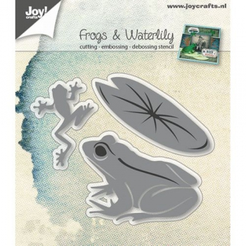*NEU Joy! Crafts - Frogs & Waterlily Dies