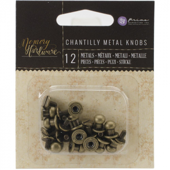 Prima Marketing - Chantilly Metal Knobs 12 Stück