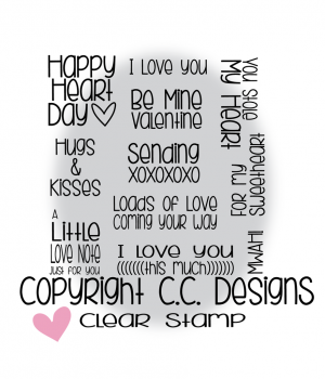 *NEU C.C. Designs - XOXO Sentiments Clear Stamps
