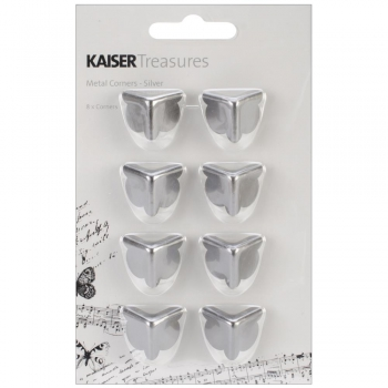 *NEU Kaisercraft - Treasures Metal Corners Antique Silver 8 Stück