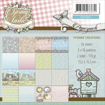 Yvonne Creations - Springtastic Paper Pad 6x6""