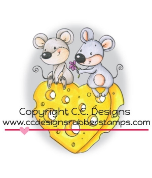 C.C. Designs - Mousey Love Rubber Stamp