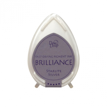 Tsukineko - Brilliance Dew Drop Pigment Ink Starlite Silver