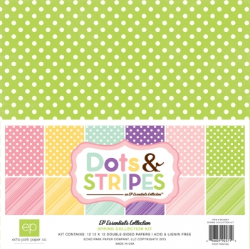 Echo Park Paper - Spring Collection Kit Dots & Stripes 12x12