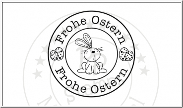 PP-Stamps - Stempelgummi Label Frohe Ostern