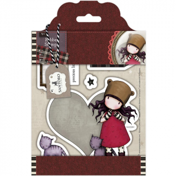Docrafts - Santoro Gorjuss Urban Cling Stamps Purrrrrfect Love