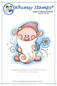 *NEU Whimsy Stamps - Beardy Gnome Rubber Stamp - PRE-ORDER