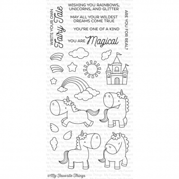 My Favorite Things - Clear Stamps Magical Unicorns 4x8""