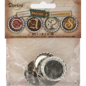 "Darice - Magnetic Bottle Caps 1"" - 6 Stück"