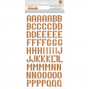 "American Crafts - Birthday Bash Thickers Alpha Stickers Foiled Copper 5.5""X11"""