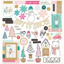 *NEU Crate Paper - Snow & Cocoa Adhesive Chipboard Icons 12x12""