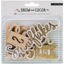 Crate Paper - Snow and Cocoa Wood Die-Cuts Snowflakes