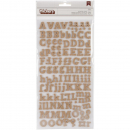 American Crafts - Thickers Burlap Letter Stickers