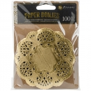 Prima Marketing - Paper Doilies Round Gold 4""