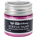 *NEU Prima Marketing - Finnabair Art Alchemy Acrylic Paint Metallique Pink Blush 50ml