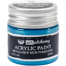 *NEU Prima Marketing - Finnabair Art Alchemy Acrylic Paint Metallique Rich Turquoise 50ml