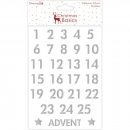 Dovecraft - Christmas Basics Advent Numbers Stickers Silver