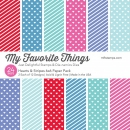 *NEU My Favorite Things - Hearts & Stripes Paper Pack 6x6""