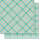 *NEU Lawn Fawn - Scrapbooking Papier Perfectly Plaid Chill Peace Out 12x12""