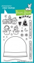 *NEU Lawn Fawn - Schneekugel Ready, Set, Snow Stamps