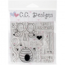 *NEU C.C. Designs - Clear Stamps Bee-cause Set