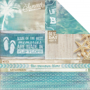 *NEU Kaisercraft - Sandy Toes Scrapbooking Paper Waves 12x12""
