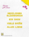 *NEU Nellie's Choice - Shape Dies German Texts-1