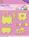 *NEU Nellie's Choice - Lene Baby build-up train Dies - PRE-ORDER