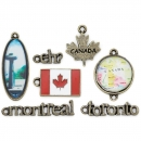Blue Moon Beads - Metal Charms Canada - 5 Stück