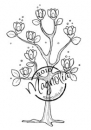 Magnolia - Hoppy Easter Cling Stamp Magnolia Tree