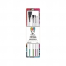 Ranger - Dina Wakley Media Stiff Bristle Paint Brush - 4 Stück