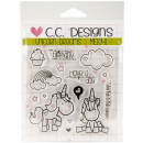 *NEU C.C. Designs - Clear Stamps Unicorn Dreams