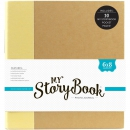 Echo Park Paper - My Story Book 2-Ring Album Cream Solid 6x8""