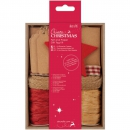 Docrafts - Papermania Create Christmas Felt and Paper Gift Tag Kit Red