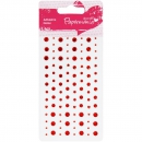 Docrafts - Papermania Adhesive Stones Red
