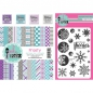 Mobile Preview: Pink & Main - Clearstempel, Papierblock und Stempelkissen Kit Frosty Flurries