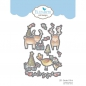 Mobile Preview: Elizabeth Craft Designs - Clear Stamps Set & Dies Combo Reindeers & Birds