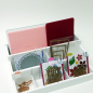 Mobile Preview: Scrapbooking Organiser Holz weiss mit 3 Stufen 23.5cm x 38cm x 14cm (1.5kg)