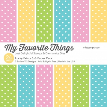 "My Favorite Things - Scrapbooking Papierblock Lucky Prints Paper Pack 6x6"" 24 Blatt"