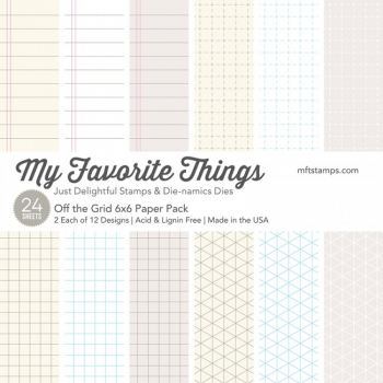 My Favorite Things - Papierblock Off the Grid Paper Pack 6x6