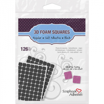 Scrapbook Adhesives - 3D Foam Pads Squares Black 11x12x2mm