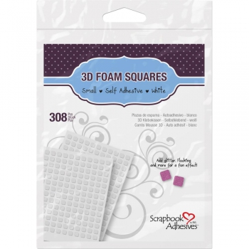 Scrapbook Adhesives - 3D Klebepads Foam Pads Squares White 6.35x6.35x2mm