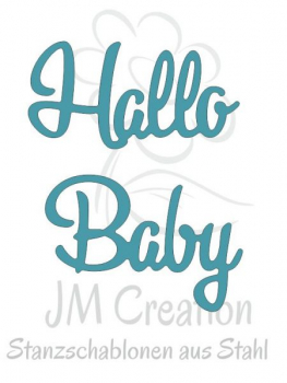 JM Creation - Stanzschablone Hallo Baby