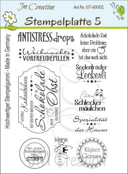 JM Creation - Gummistempel Set 5 unmontiert