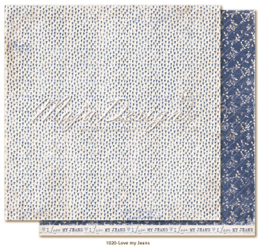 Maja Design Denim & Girls Love my Jeans Scrapbookingpapier 12x12""