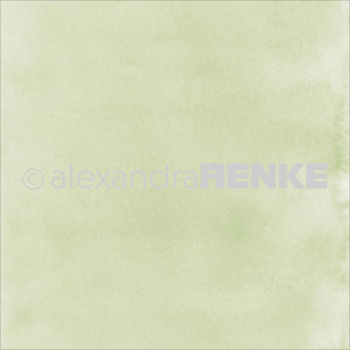 "Alexandra Renke - Scrapbookingpapier Shamrock Green Watercolor 12""X12"""