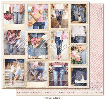 Maja Design - Scrapbookingpapier Denim & Girls Snapshots Girls in Jeans 12x12""