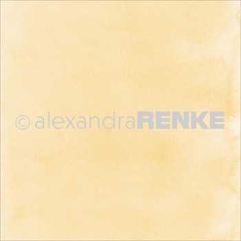 "Alexandra Renke - Scrapbookingpapier Yellow Watercolor Design Paper 12""X12"""