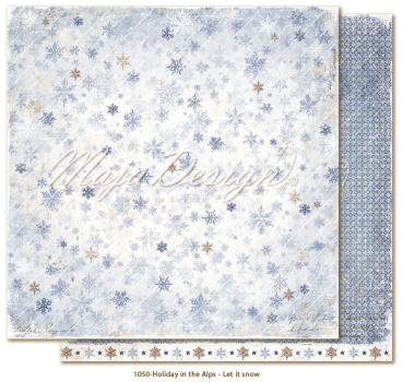 Maja Design Holiday in the Alps Let it Snow Scrapbookingpapier 12x12